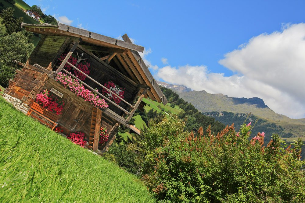 Bäuerliche Idylle auf dem Südtiroler Bauernhof